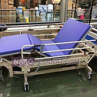 تخت بیمار سه شکن با قابلیت تنظیم ارتفاع