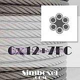 سیم بکسل آسانسوری 6x12+7FC